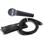 Shure SM58 Cardioid Mic with 25' XLR to XLR cable