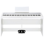 Korg B1SP Digital Piano with Matching Stand & Pedals - White