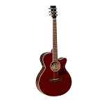 Tanglewood TW4 - Winterleaf Series Super-Folk Guitar - Burgundy Red