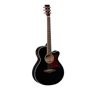 Tanglewood TW4 - Winterleaf Series Super-Folk Guitar - Black