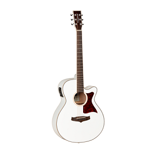 Tanglewood TW4 - Winterleaf Series Super-Folk Guitar - White Gloss