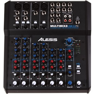 Alesis MultiMix 8 USB FX 8 Channel Mixer